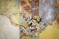 Takashi Murakami 727-727 , 2006 Acrílico sobre lienzo montado sobre tabla 300 x 450 x 7 cm The Steven A. Cohen Collection Cortesía de Blum & Poe, Los Ángeles ©Takashi Murakami/Kaikai Kiki Co., Ltd., 2006. Todos los derechos reservados.